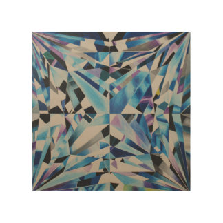 """Diamant 8"""" x 8"""" hölzerne Wand-Kunst Holzdruck"""