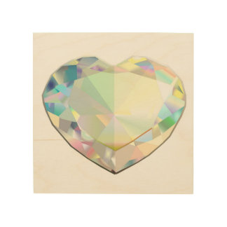 "Diamant-Herz 8"" x 8"" Holzleinwand"
