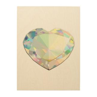 Diamant-Herz Holzleinwand