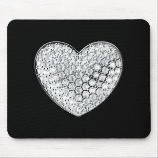 Diamant-Herz Mauspads