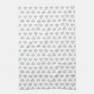 Diamant-Muster-Geschirrtuch Handtuch