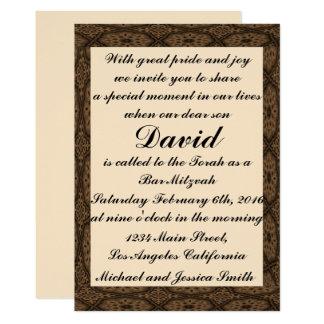 Diamant-Rahmen-Bar Mitzvah/Geburtstags-Einladung 12,7 X 17,8 Cm Einladungskarte