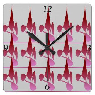 Diamant-Schatten-Quadrat-Uhr Quadratische Wanduhr