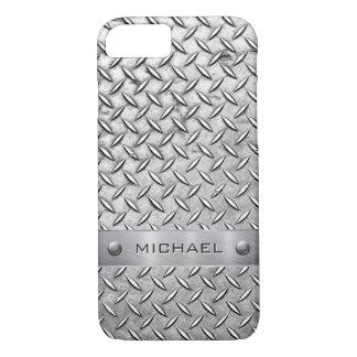 Diamant-Schnitt-Muster Metallplatten iPhone 7 Hülle