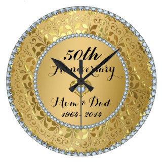 Diamanten u. Hochzeitstag des Gold50. Wanduhren