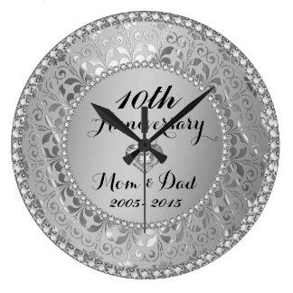 Diamanten u. Silber-10. Hochzeitstag Uhr