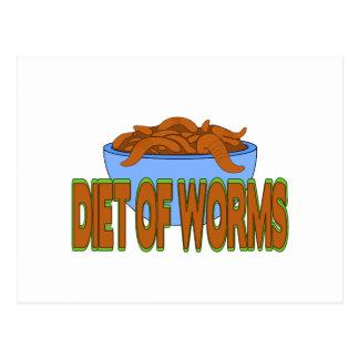 Diät der Würmer Postkarte