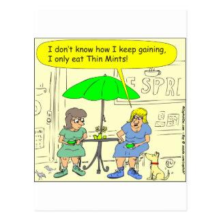 Diät s3 des dünnen Minzen-Cartoon Postkarte