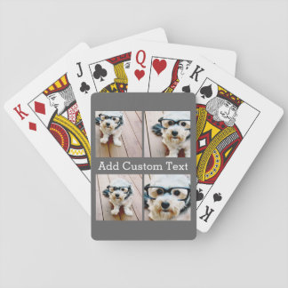 Die 4 Foto-Collage - wählen Sie IHRE Spielkarten