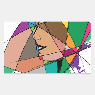 Die abstrakte Frau durch Stanley Mathis Rechteckiger Aufkleber