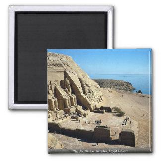 Die Abu Simbel Tempel, Ägypten-Wüste Quadratischer Magnet