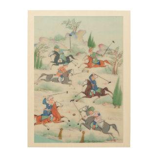 Die alten persischen Polo-Spieler! Holzleinwände