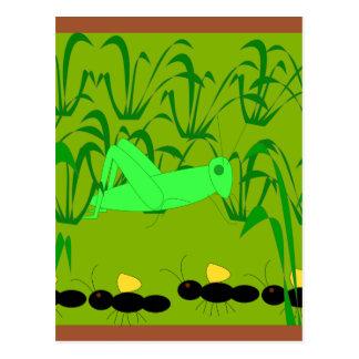 die Ameise und die Heuschrecke Postkarte