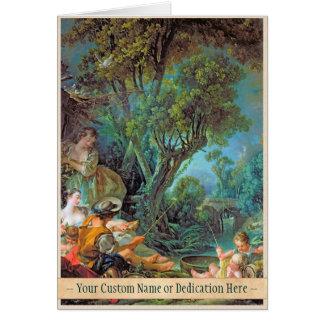 Die Angler Boucher Francois Rokoko-Szenenmalerei Mitteilungskarte