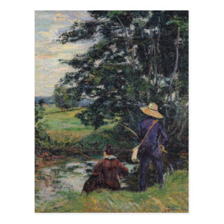 Die Angler, c.1885 Postkarte
