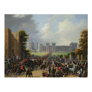 Die Ankunft von Louis-Philippe bei Windsor Postkarte