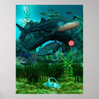 Die Anruf-Wasserleben-Digital-Fantasie Poster