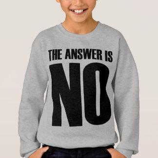 Die Antwort ist keine Sweatshirt