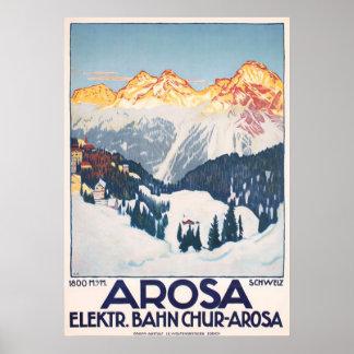Die Arosa-Gebirgsschweiz-Reise-Vintages Plakat