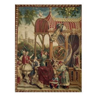 Die Astronomen, Beauvais-Werkstatt, 1711 Postkarte