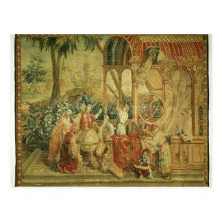 Die Astronomen, gesponnen in Beauvais Postkarte
