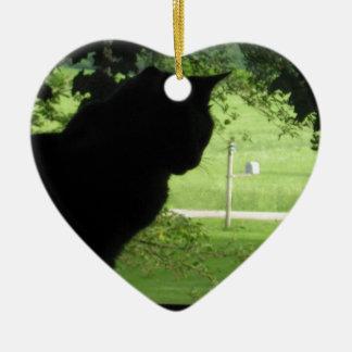 Die Außenwelt Keramik Herz-Ornament