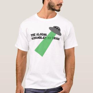 Die Außerirdische kroch meinen Gehirn-T - Shirt