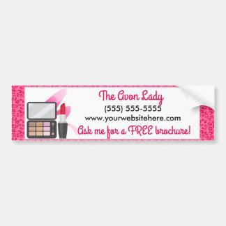 Die Avon-Dame, rosa Leopard-Kosmetik Autoaufkleber