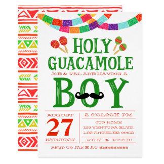 Die Babyparty-Fiesta des Jungen 12,7 X 17,8 Cm Einladungskarte