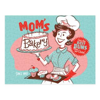 Die Bäckerei-Retro der Mutter der Mammas Postkarte