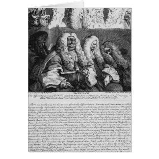 Die Bank, 1758 Karte