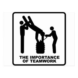 Die Bedeutung der Teamwork Postkarte