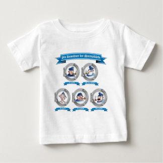 Die Bewohner der Meereesküste Comic Baby T-shirt