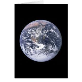 """""""Die blaue Marmor"""" Erde scheint von Apollo 17 Karte"""