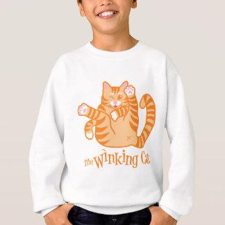 Die blinzelnde Katze Sweatshirt