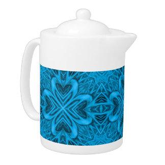 Die Blues-Kaleidoskop-Muster-Teekannen