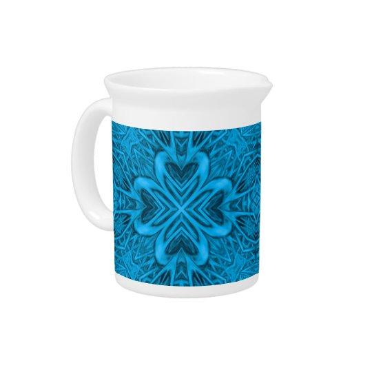 Die Blues-Kaleidoskop-Porzellan-Krüge Getränke Pitcher
