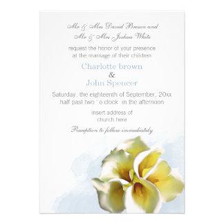 die Blumen Wasserfarbcallalilien lädt ein Individuelle Einladungen