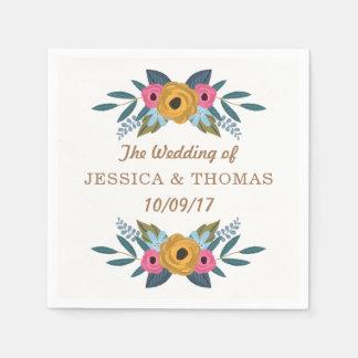Die BlumenKranz-weiße Hochzeits-Sammlung Serviette