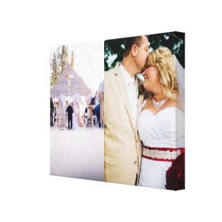 Die Braut u. Bräutigam, die besonders angefertigt Galerie Faltleinwand