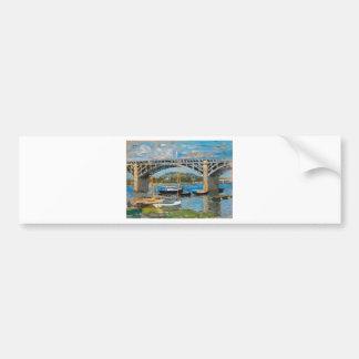 Die Brücke über der Seine durch Claude Monet Autoaufkleber