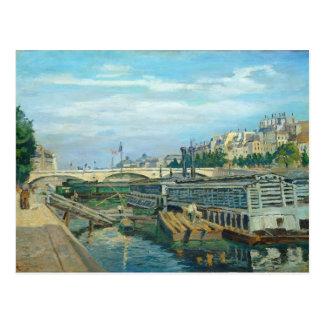 Die Brücke von Louis Philippe, 1875 (Öl auf Postkarte