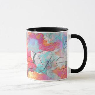 Die bunten abstrakten Mohnblumen - glauben Sie Tasse