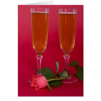 die Champagne Flöte Karte