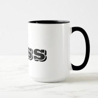 Die Chef-kundenspezifische schwarze Typografie Tasse