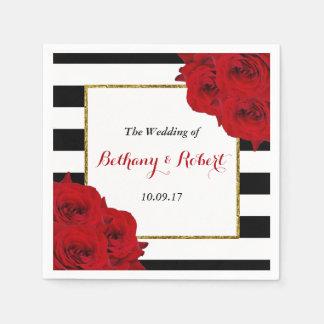 Die chic-modernen Luxe Hochzeits-Sammlungs-Roten Papierservietten