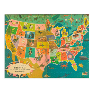 Die Das Buch-Karte USA-Kinder Postkarten