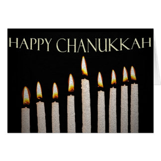 Die Des Menorahs Glühen Chanukkah Karte