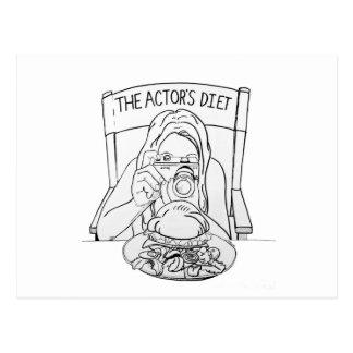 Die Die Diät-Postkarte des Schauspielers Postkarte