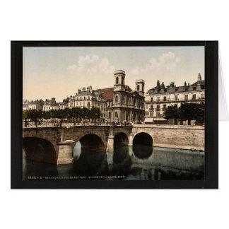 Die Drehbrücke und die Madeleine-Kirche, Grußkarte